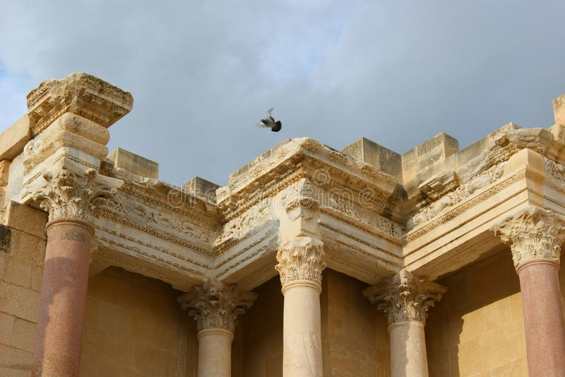 Roman Ruins antigo em Israel fotografia de stock