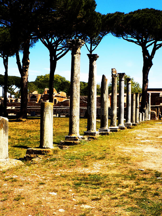 Roman Ruins antique dans Ostia photo libre de droits
