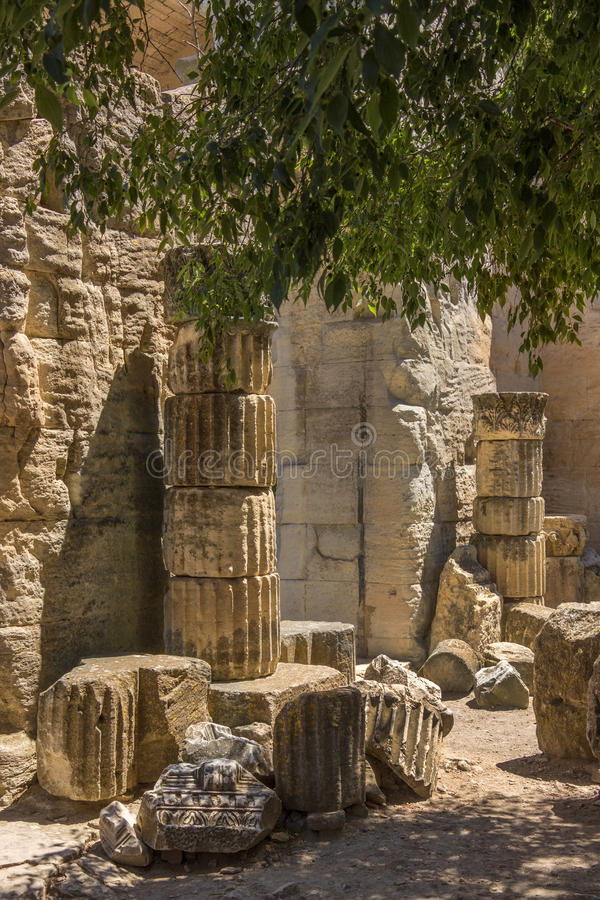 Roman Ruins - Arles - South of France stock images