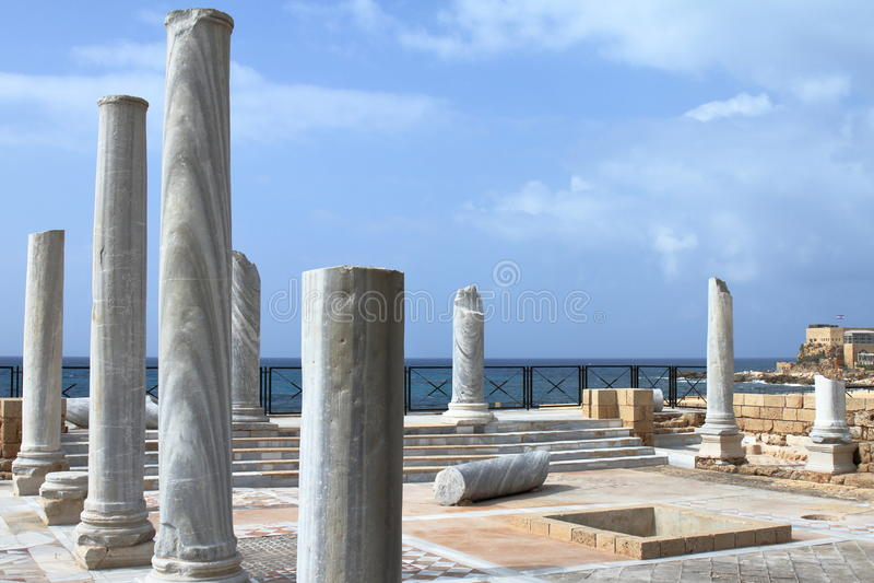 Roman Ruins - Caesarea - Israel stockfoto