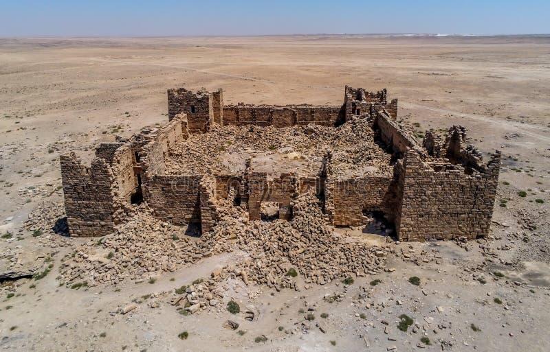 Roman Ruins em Jordânia, castelo Bashir Roman Fortress fotos de stock royalty free