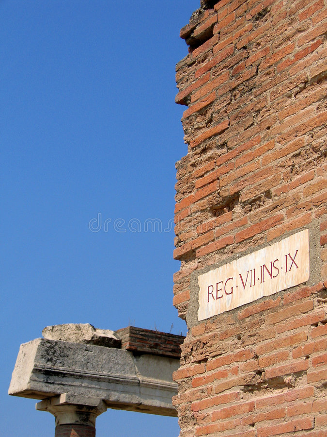 Roman ruins at pompeii royalty free stock photos