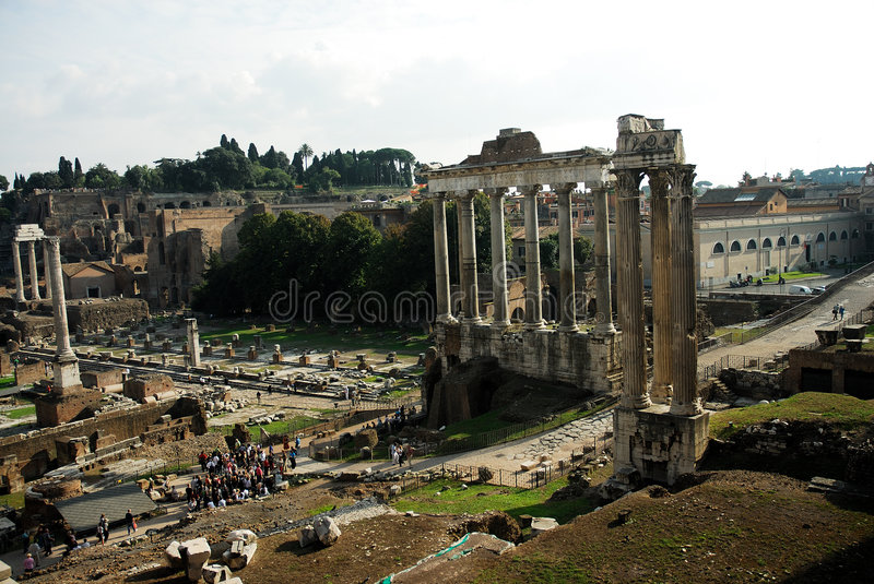 Roman ruins Rome Italy royalty free stock images
