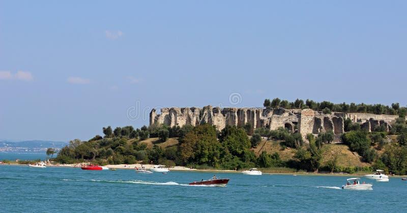 Roman ruins, Sirmione, Lake Garda, Italy royalty free stock photography