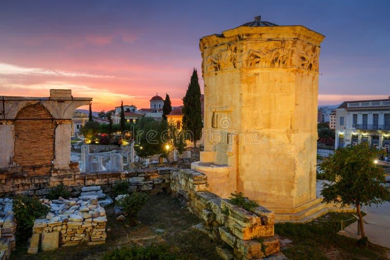 roman s sida acropolismarknadsplatsathens för tätt hadrian arkiv till sikten arkivfoton