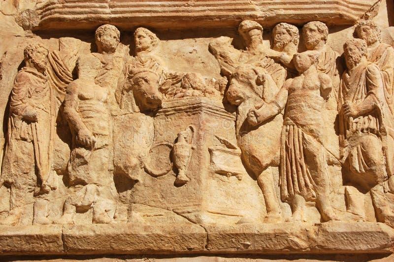 Download Roman Sacrifice frieze stock image. Image of carving, magna - 8734735