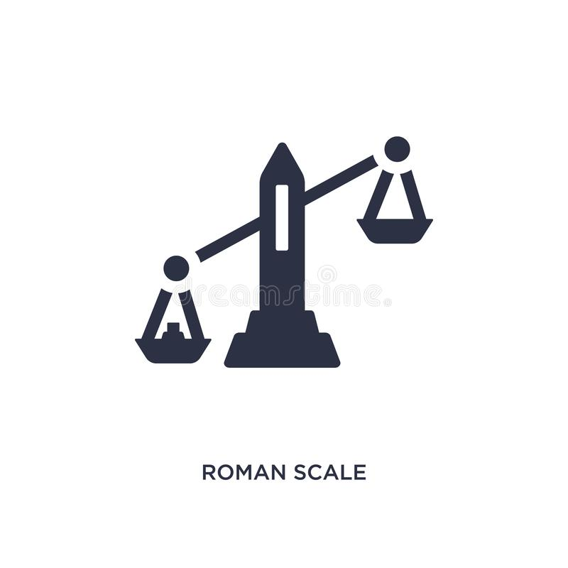 roman scale icon on white background. Simple element illustration from measurement concept stock illustration