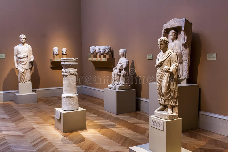Roman Sculptures antigo imagens de stock