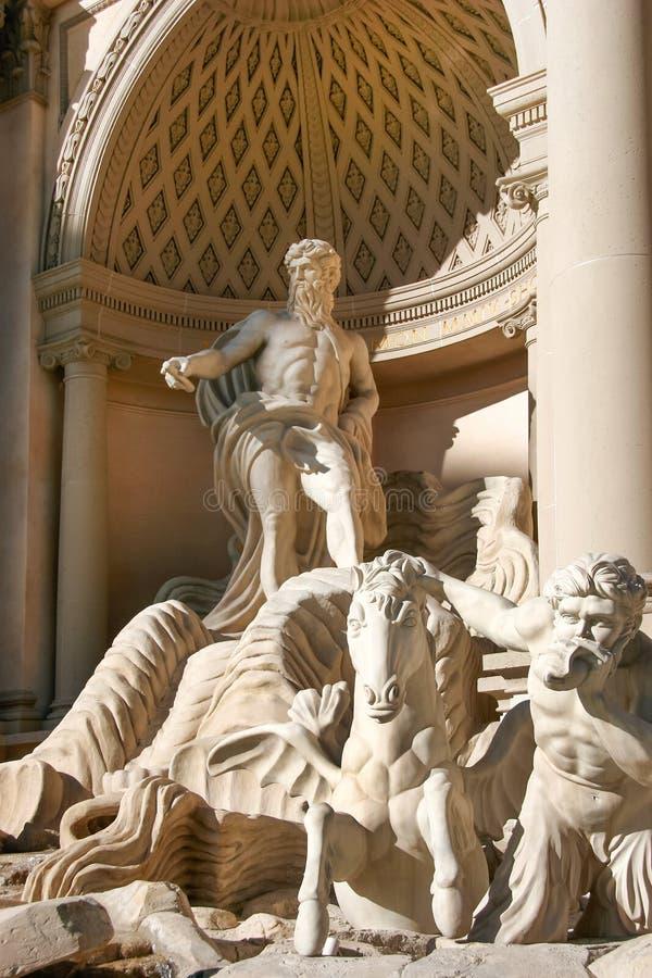 Roman sculptures in Las Vegas royalty free stock photos
