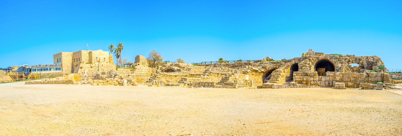 The Roman settlement in Israel stock image