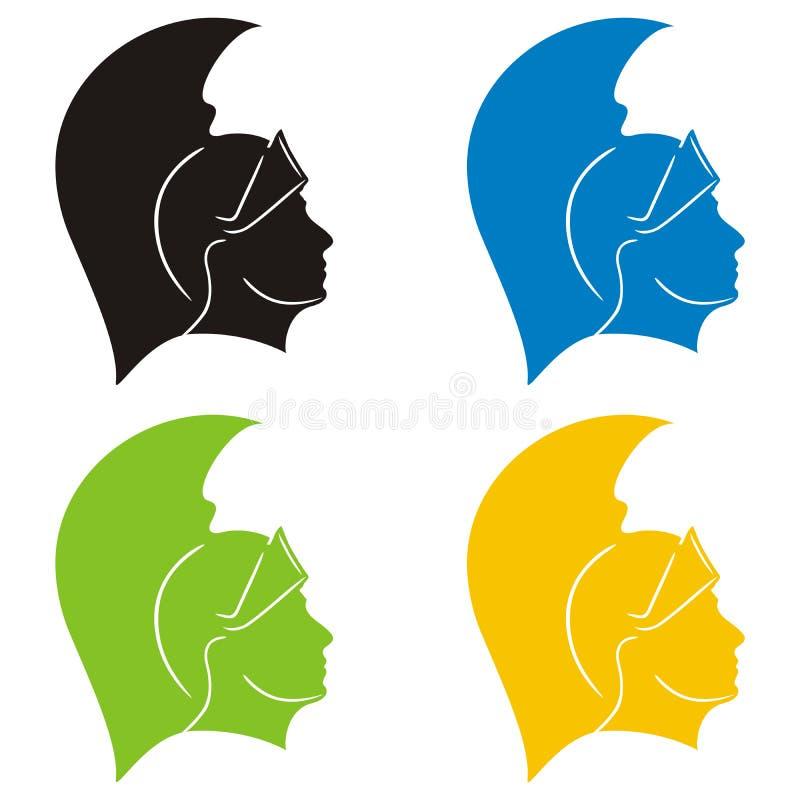 roman silhouettesoldat vektor illustrationer