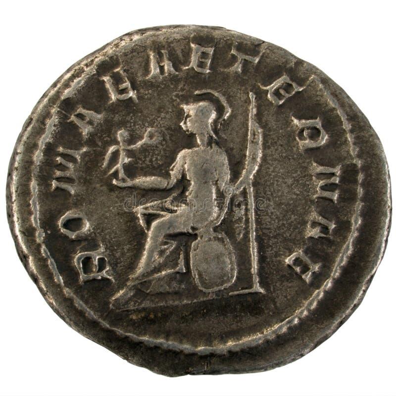roman silver för forntida mynt royaltyfri fotografi