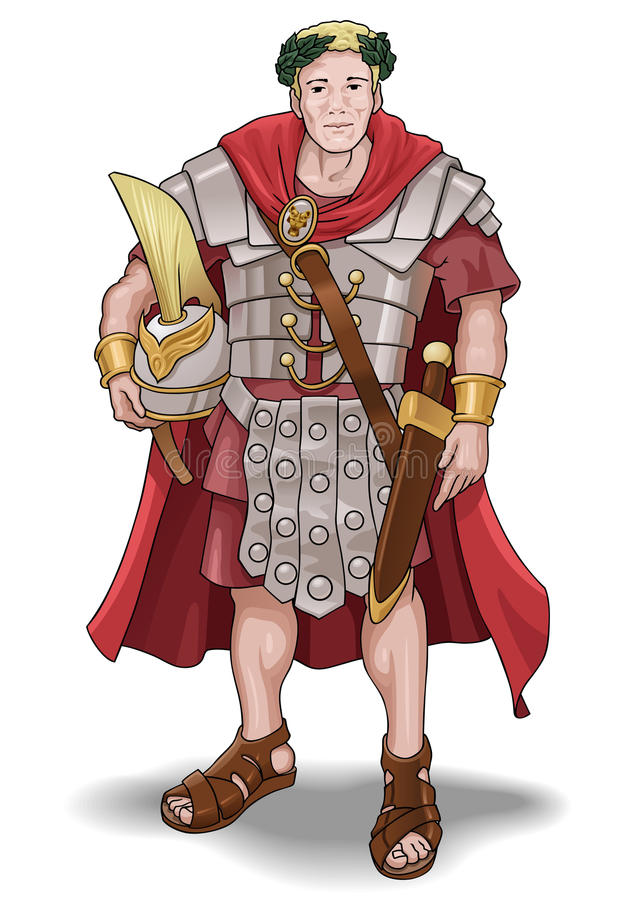 roman soldat royaltyfri illustrationer
