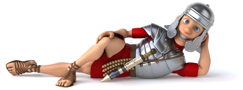 roman soldat vektor illustrationer