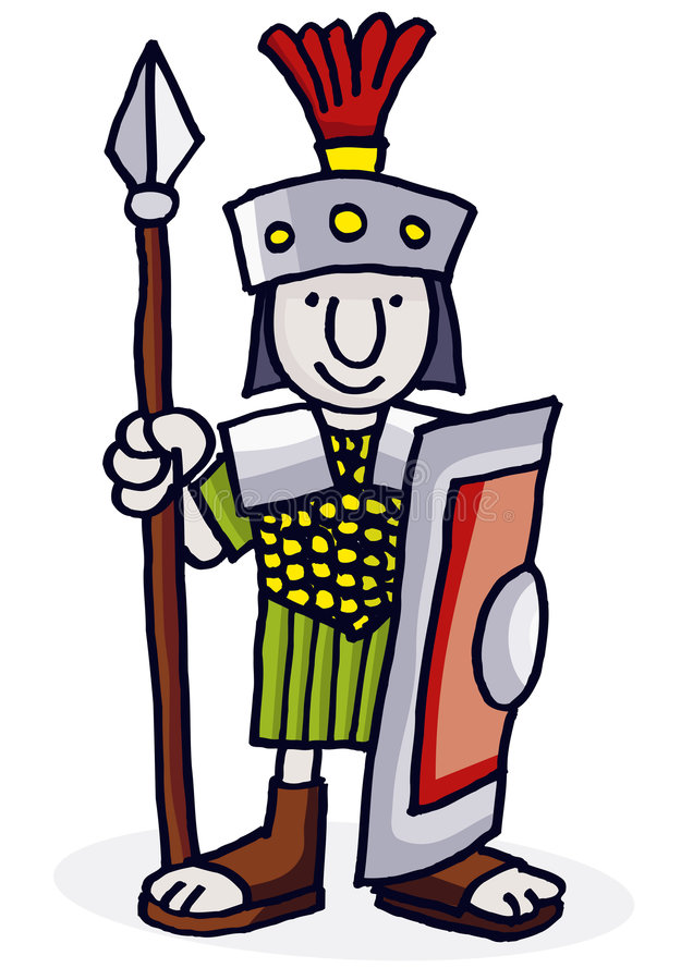 roman soldat stock illustrationer