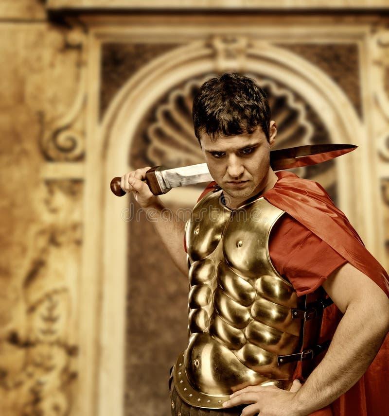 roman soldat för legionary royaltyfri bild