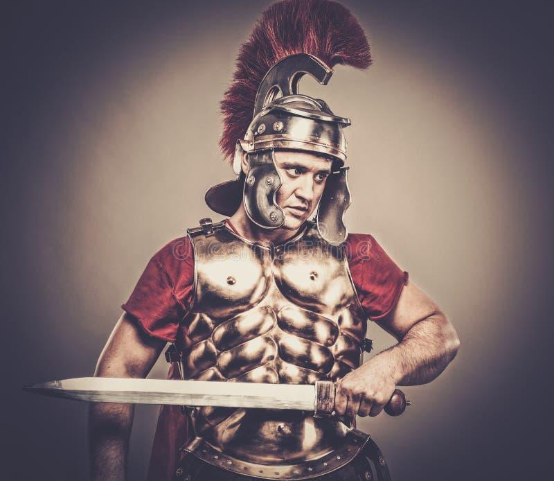 roman soldat för legionary royaltyfria bilder