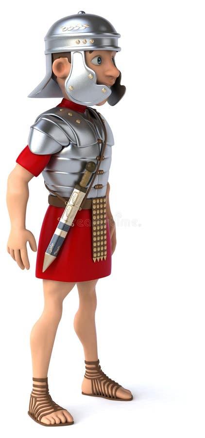 roman soldat för legionary stock illustrationer
