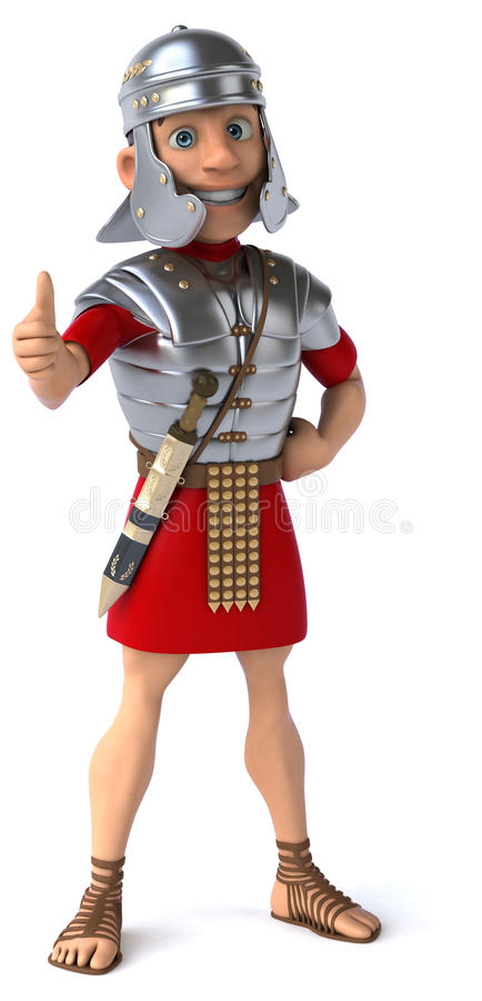 roman soldat för legionary royaltyfri illustrationer