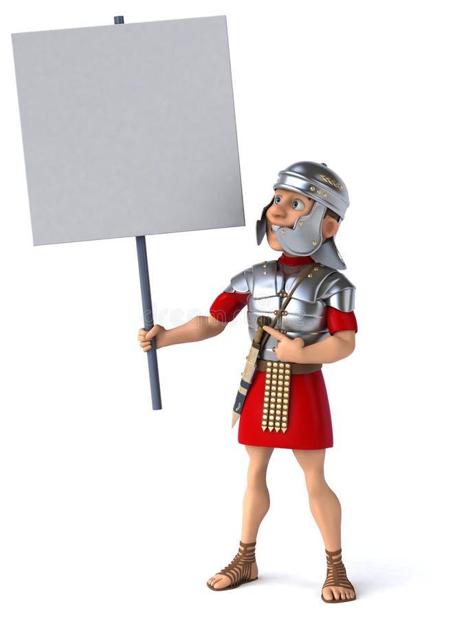 roman soldat för legionary vektor illustrationer