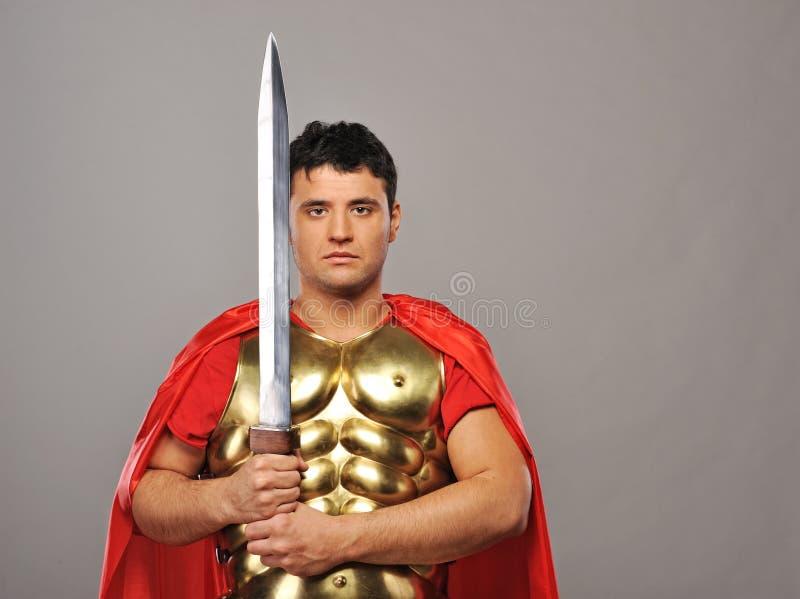 roman soldat för stilig legionary royaltyfri foto