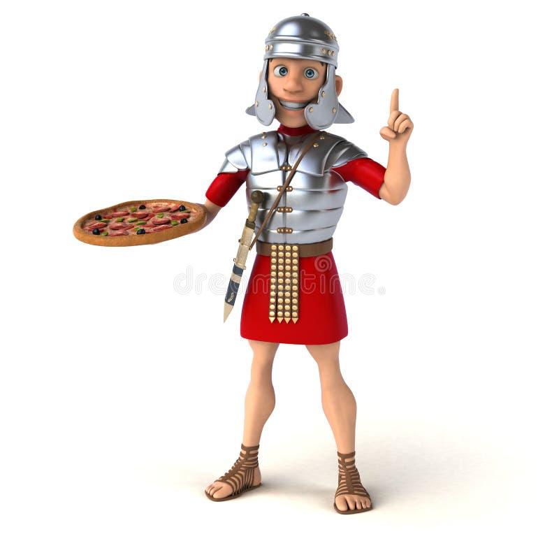 Roman soldier vector illustration