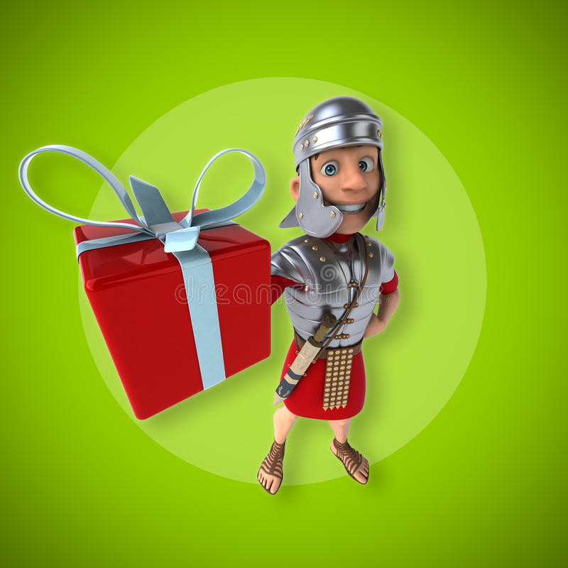 Roman soldier royalty free illustration