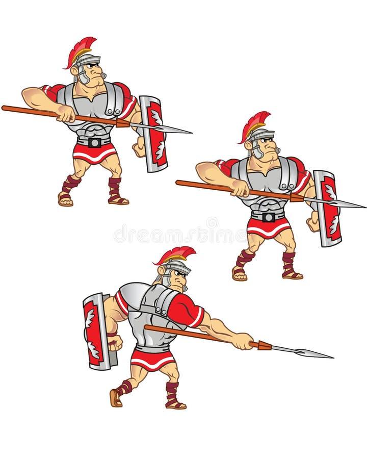 Roman Soldier Game Sprite illustration stock