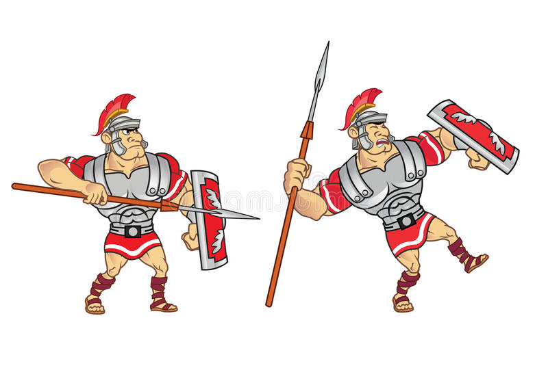 Roman Soldier Game Sprite stock illustration