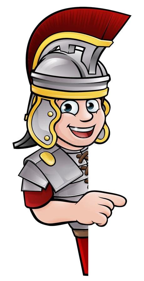 Roman Soldier Pointing ilustración del vector