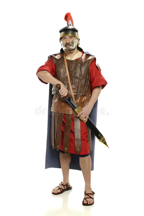 Free Roman Soldierwith Sword Stock Photography - 58759382