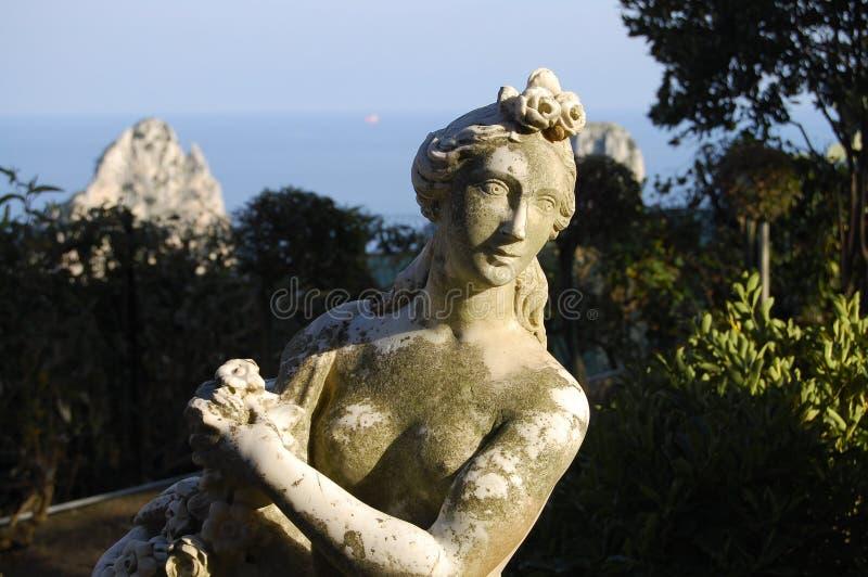 Roman Statue - Capri - Italien royaltyfria foton