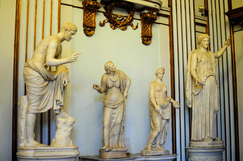 Roman Statues in Capitoline Museum royalty free stock image