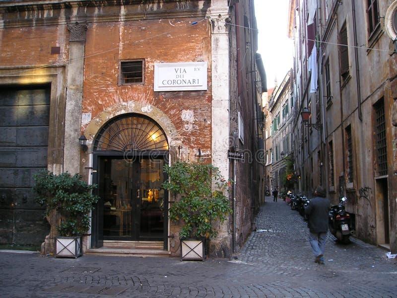 Roman straat royalty-vrije stock afbeeldingen