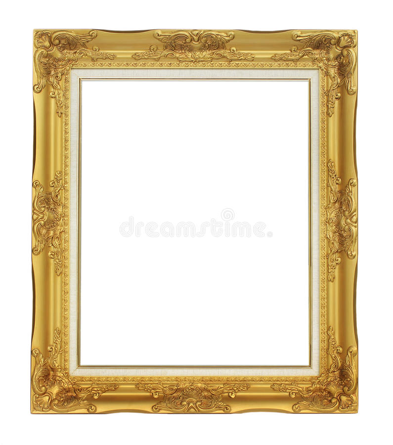 Download Roman Style Antique Gold Frame On White Background Royalty Free Stock Photo - Image: 25193975