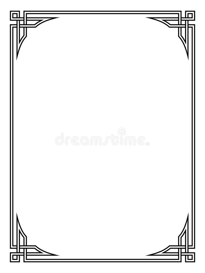 Roman style black ornamental decorative frame. Pattern isolated vector illustration