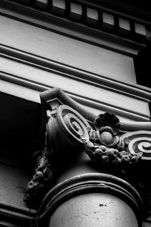 Roman Style Pole Classical-orde stock fotografie