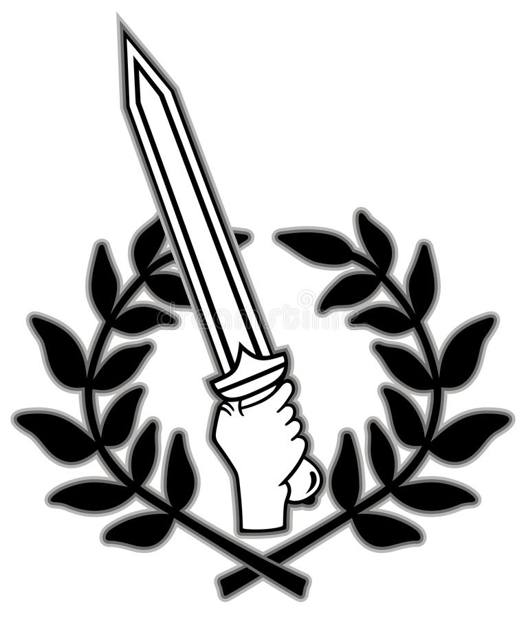 Download Roman sword and wreath stock vector. Illustration of gladius - 18861825