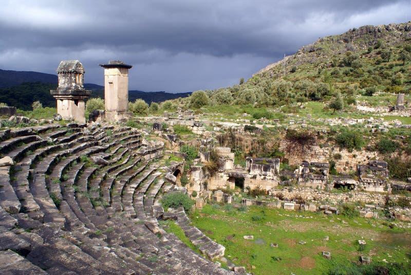 roman teater royaltyfri foto