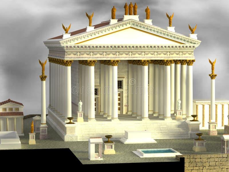 Download Roman Temple stock illustration. Image of maison, european - 26648038