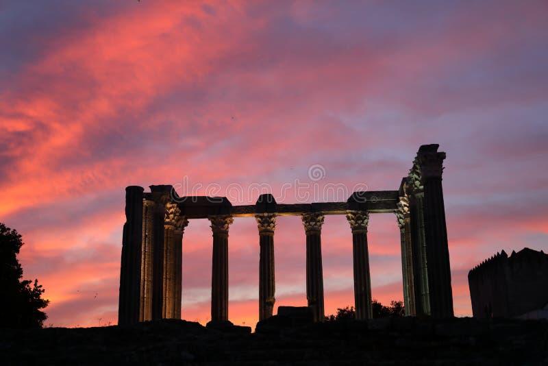 Roman Temple au Portugal image libre de droits