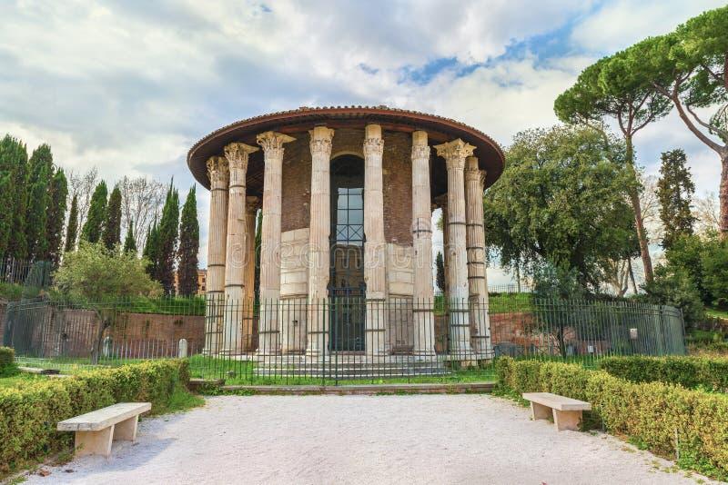 Roman Temple di Hercules Victor (Ercole il vincitore o Hercules Olivarius) fotografia stock libera da diritti