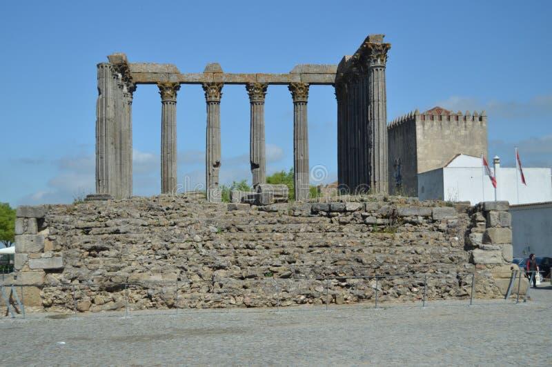 Roman Temple Of Diana In Evora. royalty free stock image