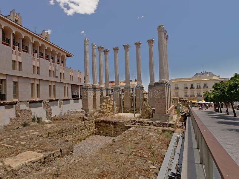 Roman Temple en C?rdoba, Espa?a fotografía de archivo