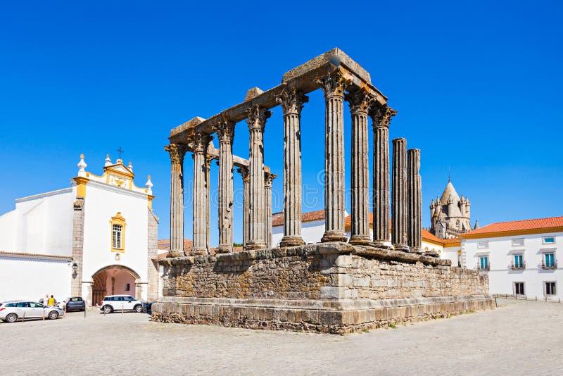 Roman Temple, Evora immagini stock