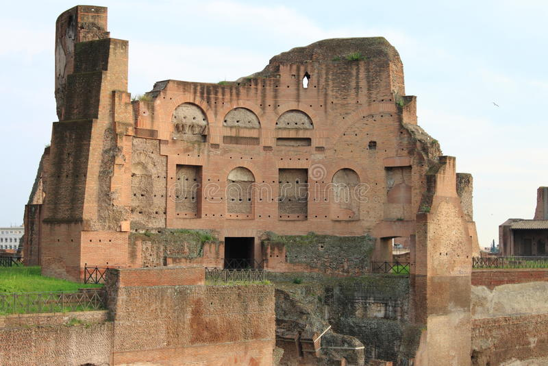 Roman temple in the Palatine hill. Of Rome, Italy royalty free stock photos