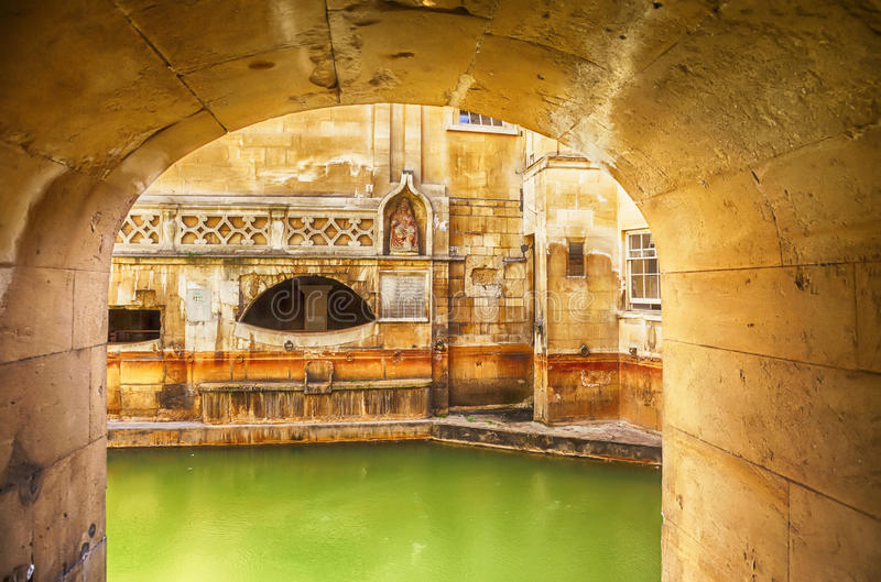 Download Roman terms in Bath stock image. Image of bath, historic - 33255175