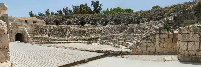 Roman Theater bei Beit Shean in Israel stockbilder