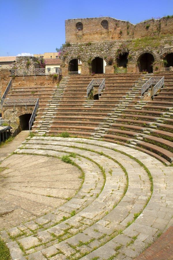 Roman Theater a Benevento, campania, Italia fotografie stock
