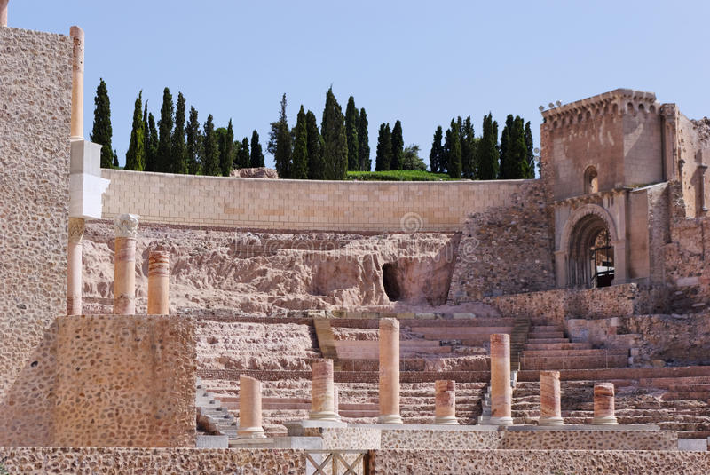 Roman Theater in Cartagena royalty-vrije stock foto